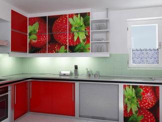 Кухонный гарнитур угловой 5 фотопечать - Мебельная фабрика «Виктория»