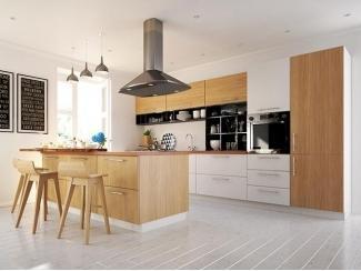 Простой кухонный гарнитур Вудлайн small - Мебельная фабрика «Cucina»