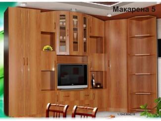 Гостиная стенка Макарена 5 (ЛДСП) - Мебельная фабрика «Элна»