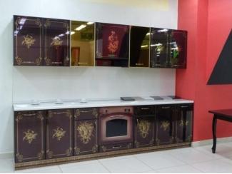 Кухня прямая с рисунком из золота - Мебельная фабрика «Мебель России»