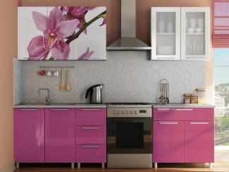 Кухня прямая Радуга с фотопечатью Орхидея - Мебельная фабрика «МИГ»