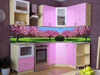 Розовая кухня Смак 18 - Мебельная фабрика «Лига Плюс»