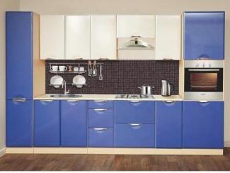 Синяя матовая кухня Селена  - Мебельная фабрика «Олмеко»