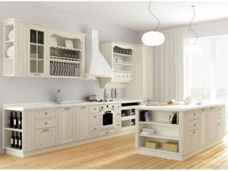 Белый кухонный гарнитур Адель дуб полуукрывистая эмаль - Мебельная фабрика «Lasort»