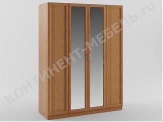 Шкаф распашной 4-х дверный с двумя зеркалами - Мебельная фабрика «Континент-мебель»