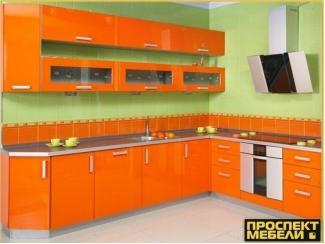 Кухня оранжевая угловая - Мебельная фабрика «Проспект мебели»