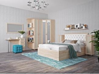 Светлый спальный гарнитур - Мебельная фабрика «Нижнетагильская мебельная фабрика»