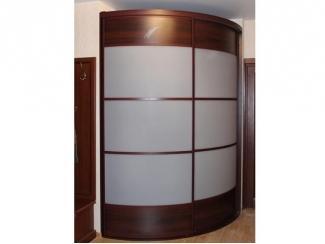 Угловой встроенный радиусный шкаф купе - Мебельная фабрика «ТРИ-е»