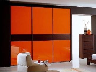 Оранжевый шкаф-купе Эта  - Мебельная фабрика «Триана»