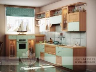 Кухня Галлия Бирюза/Бук - Мебельная фабрика «Абико»