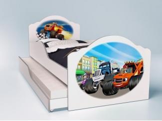 Детская кровать Вспыш с выдвижным местом - Мебельная фабрика «Грифон Стайл»