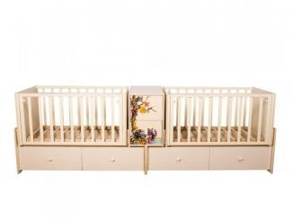 Детская кроватка КТМ БЛИЗНЕЦЫ ЕНОТЫ - Мебельная фабрика «Папа Карло»