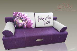Фиолетовый диван Еврокуб - Мебельная фабрика «Kiss», г. Ульяновск