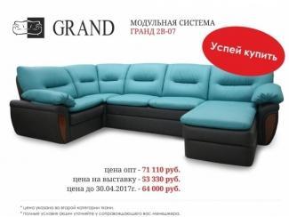 Угловой модульный диван Гранд 2В-07 - Мебельная фабрика «Ивушка»