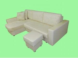 Белоснежный угловой диван - Изготовление мебели на заказ «Лига»