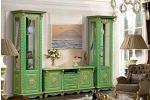 Буфет Жасмин зеленый - Мебельная фабрика «Аристократ»