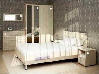 Светлая мебель в спальню Смарт  - Мебельная фабрика «Аллоджио», г. Верхняя Пышма