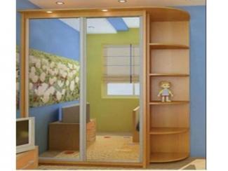 Прямой шкаф-купе с полками  - Мебельная фабрика «Перспектива»