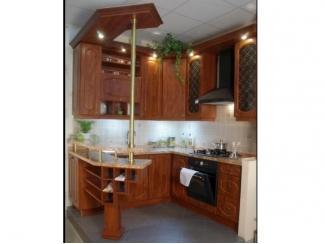 П-образный кухонный гарнитур с барной стойкой  - Мебельная фабрика «Перспектива»