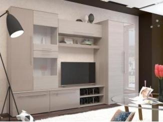 Современная стенка с глянцевыми элементами Монако  - Мебельная фабрика «Горизонт»