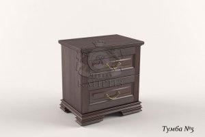 Тумба 5 2-ящика из массива дерева - Мебельная фабрика «Каприз»