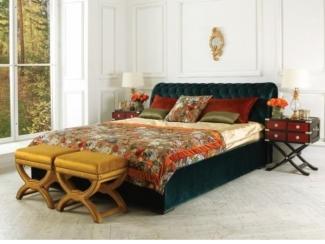Кровать с утяжками Барокко  - Мебельная фабрика «Рой Бош»
