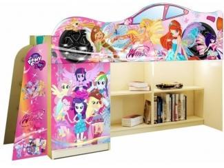 Кровать чердак 1 для девочки - Мебельная фабрика «ПМК ВиП»