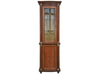 Шкаф с витриной Валенсия 1.1з П 244.14.01 (зеркало) - Мебельная фабрика «Пинскдрев»