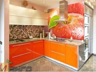 Угловая кухня Ева с фотопечатью - Мебельная фабрика «Манго»
