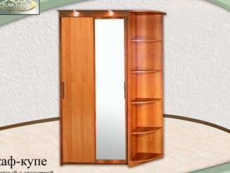 Шкаф-купе 2х дверный с этажеркой (ЛДСП) - Мебельная фабрика «Элна»