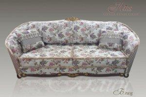 Прямой диван Блиц с бахромой - Мебельная фабрика «Kiss», г. Ульяновск