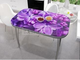 Стол со стеклом Сирень - Мебельная фабрика «Вавилон58»