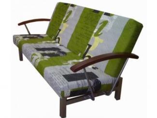 Диван Альфа с подлокотниками с накладкой Бук - Мебельная фабрика «МебельТорг»