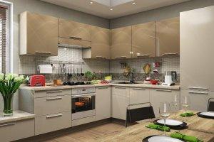Угловая глянцевая кухня - Мебельная фабрика «Командор»