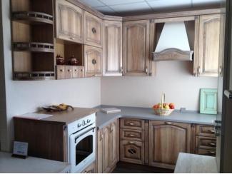 Кухня из массива ясеня с двойной патиной - Мебельная фабрика «Леспром»