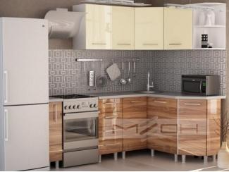 Светлый дизайн угловой кухни - Мебельная фабрика «Меон», г. Волжск