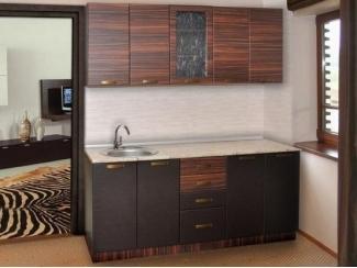 Кухонный гарнитур в темном цвете Шанхай 2 - Мебельная фабрика «Прометей»