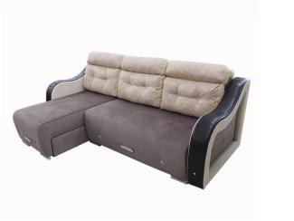 Евро угловой диван Хрусталик с оттоманкой  - Мебельная фабрика «ИнтерСиб»