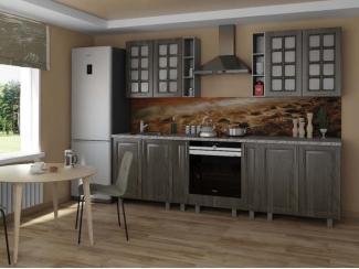 Прямая кухня Катерина серебряный орех