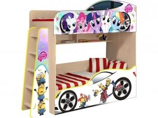 Детская кровать Лител Пони и Миньон модель 4 - Мебельная фабрика «ПМК ВиП»