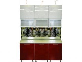 Кухня прямая Красный цветок
