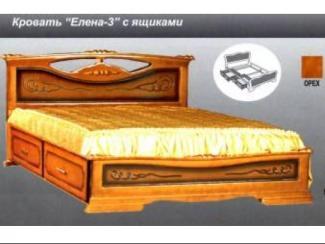 Кровать Елена 3 с ящиками - Мебельная фабрика «Мебельная Сказка»