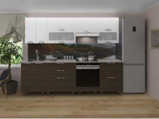 Кухня Мадена Белый Зебрано светлый - Мебельная фабрика «Веста»
