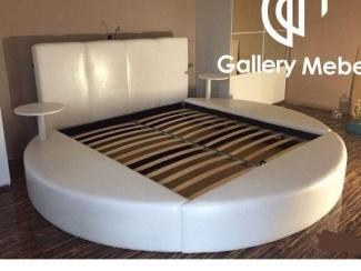 Круглая кровать с полками Letto Rotondo 08 - Мебельная фабрика «Галерея Мебели GM»