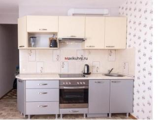 Маленькая прямая кухня  - Мебельная фабрика «MaxiКухни»