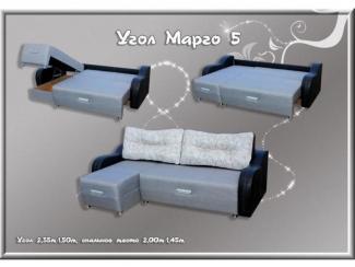 Угловой диван Марго 5 с оттоманкой