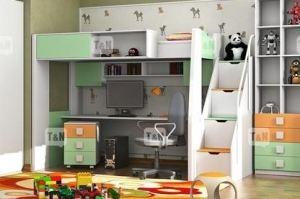 Кровать чердак Tommy Green - Мебельная фабрика «ТомиНики»
