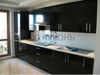 Черная прямая кухня  - Мебельная фабрика «700 Кухонь»