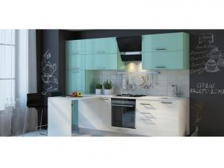 Кухня Натали Регат Мята - Мебельная фабрика «Кухни Медынь»