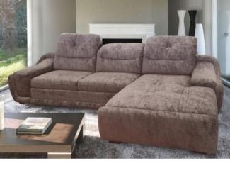 Коричневый диван Евроугол 6  - Мебельная фабрика «Мебель на Черниговской»